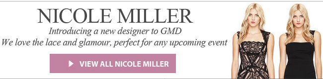 Nicole Miller - Introducing a new designer to Girl Meets Dress. We love the lace and glamour, perfect for any upcoming event