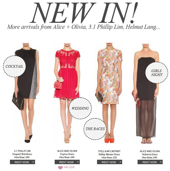 New In More arrivals from Alice + Olivia, 3.1 Phillip Lim, Helmut Lang...