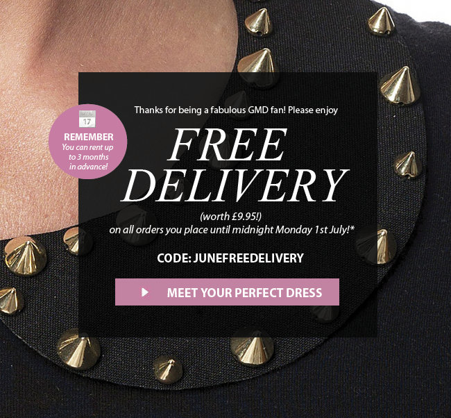 Free Delivery on all orders placed before midnight Monday 1st July. Code JUNEFREESHIP