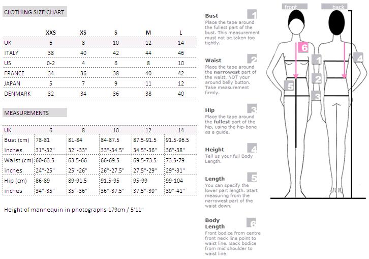 alexander mcqueen dress size chart