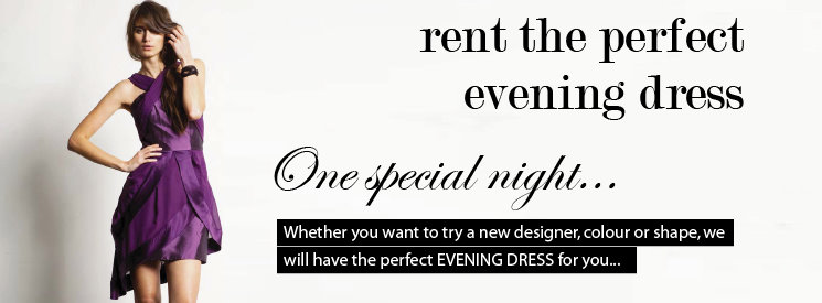 Evening dress hire