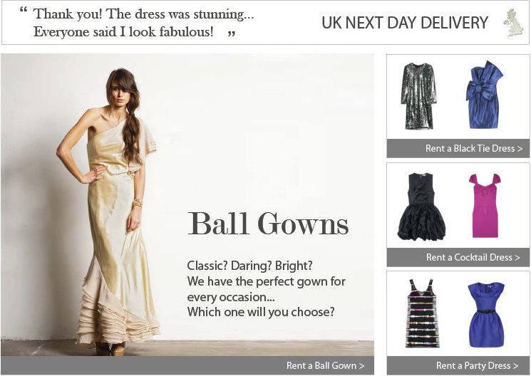 dress hire shops, local dress hire