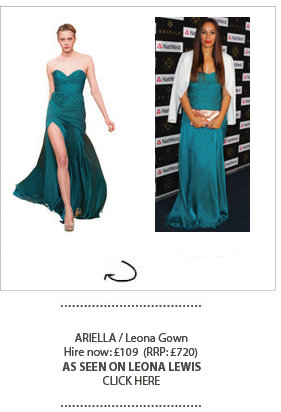 Leona Lewis wears Girl Meets Dress Ariella